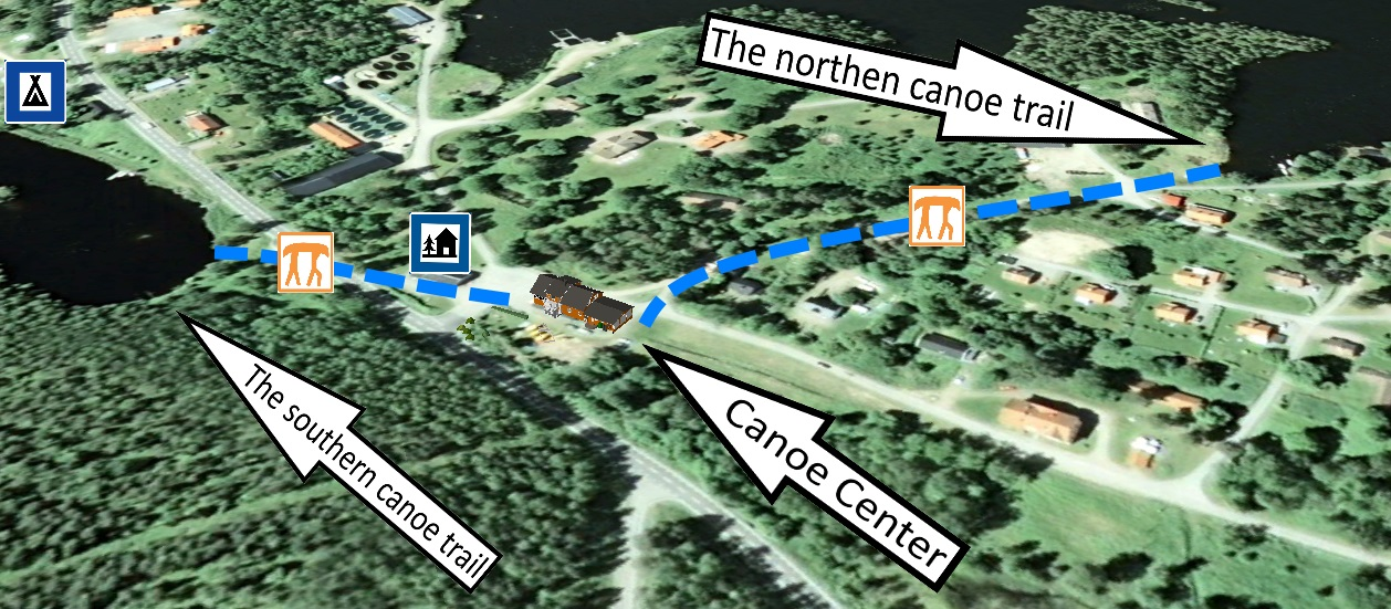 The southern canoe trail in MalingsboKloten Nature Reserve in Sweden